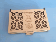 Engraved Wood First Communion Jewelry Box Free PDF File