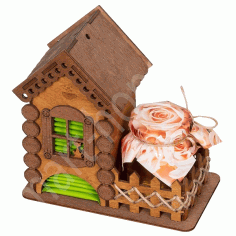 Laser Cut Tea House Tea Holder Box Tea Bag Dispense Free PDF File