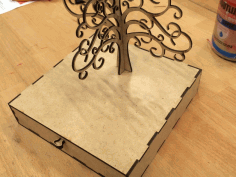 Laser Cutting Jewelry Box With Earring Tree Free PDF File