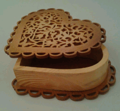 Scroll Saw Heart Box Free PDF File
