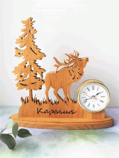 Elk Table Decoration With Clock Free PDF File