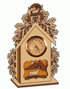 Laser Cut Deer Clock Scroll Saw Plans Free PDF File