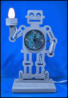 Robot Clock And Night Light Free PDF File