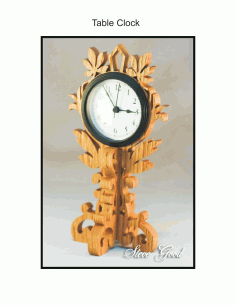 Table Clock Scroll Saw Pattern Free PDF File