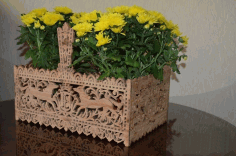 Intricate Fretwork Basket Free PDF File
