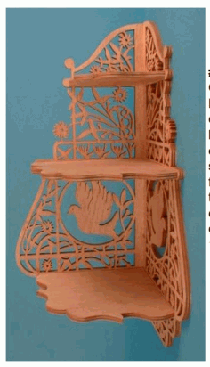 Laser Cut Corner Shelf Scroll Saw Plans Free PDF File