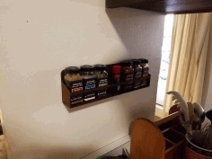Laser Cut Wall Mount Spice Rack Floating Shelf For Kitchen Free PDF File