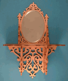 Oval Mirror Shelf Scroll Saw Pattern Free PDF File