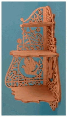 Scroll Saw Corner Shelf Plans Free PDF File