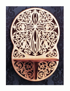 Victorian Cross With Shelf Scroll Saw Pattern Free PDF File