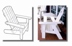 Laser Cut Adirondack Chairs Cnc Template Free PDF File
