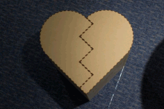 Laser Cut Heart Shape High Chair Free PDF File