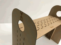 Laser Cut Simple High Chair Free PDF File