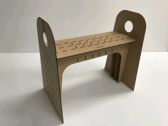 Wooden Laser Cut Simple High Chair Free PDF File