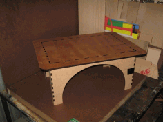 Small Crenellated Table Laser Cut Free PDF File