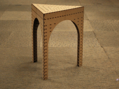 Triangle Stool Laser Cut Free PDF File