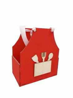 Apron Shaped Gift Box Mother Day Treat Box Free CDR Vectors Art