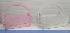 Basket Flower Box Candy Basket Free CDR Vectors Art