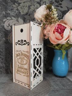 Jack Daniel 3mm Wine Gift Box Free CDR Vectors Art
