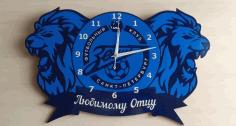 Football Club Zenit Clock Free CDR Vectors Art