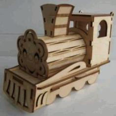 Train Engine Shaped Organizer Free CDR Vectors Art