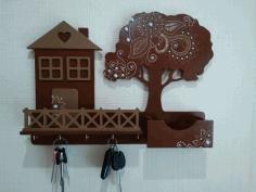 Keys Hanger With Shelf Free CDR Vectors Art