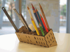 Laser Cut Pencil Stand Free PDF File