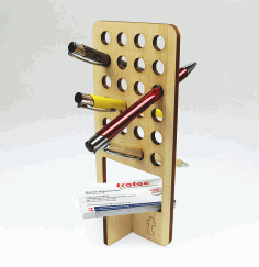 Laser Cut Wooden Pen Holder Free PDF File