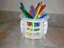 Pencil Holder Laser Cut Free PDF File