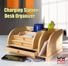 Charging Station Desk Organizer Free PDF File