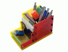 Laser Cut Acrylic Desktop Organizer Free PDF File