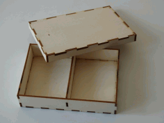Box With Compartments 3mm Free DXF File