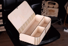 Box With Compartments And Folding Lid Gift Box Free DXF File