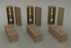 Decorative Wine Bottle Box Gift Box Free DXF File