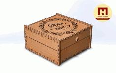 Laser Cut Box 120x120x60 Free DXF File