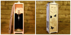 Wine Bottle Box Free DXF File