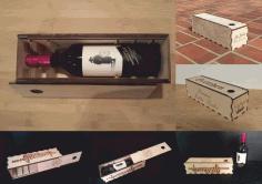 Wine Bottle Holder Box Gift Box Free DXF File