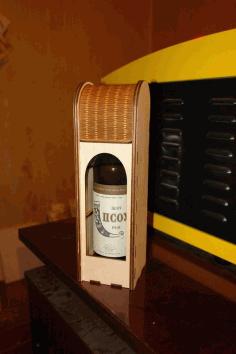 Laser cut Wine Gift Box Free DXF File