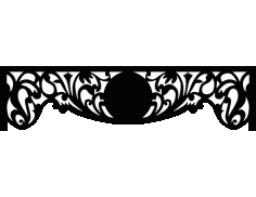 Laser Cut Floral Border Design 29 Free DXF File