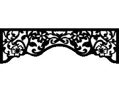 Laser Cut Floral Border Design 30 Free DXF File