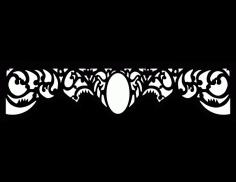 Laser Cut Floral Border Design 38 Free DXF File