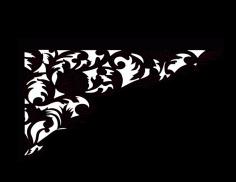 Laser Cut Floral Border Design 43 Free DXF File
