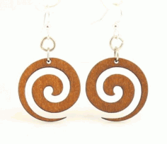 Earring Design Round Free DXF File