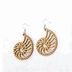 Laser Cut Earrings Jewelry Design Template Free DXF File
