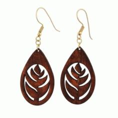 Laser Cut Leaf Style Earring Jewelry Free DXF File