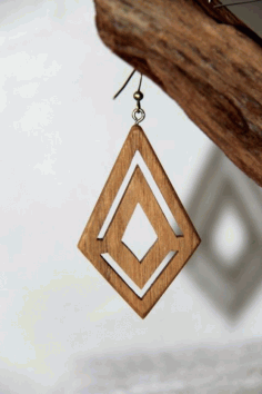 Laser Cut Stylish Earring Design Free DXF File