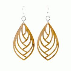 Laser Cut Stylish Earring Jewelry Design Free DXF File