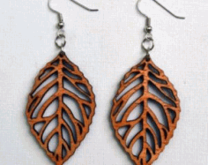 Laser Cut Wooden Earring Jewelry Design Free DXF File