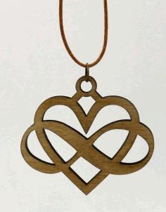 Laser Cut Locket Jewelry Design Free DXF File