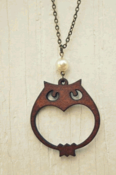 Laser Cut Pendant Jewelry  Design Free DXF File